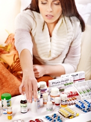 Woman wanting to get well but picking lots of pills