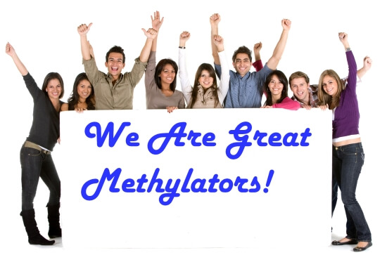 "Group of Young People  Saying ""We Are Great Methylators"""
